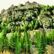 Montana Mountains In Autumn  Art Print
