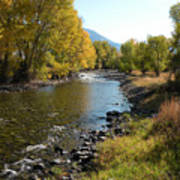 Montana River Art Print