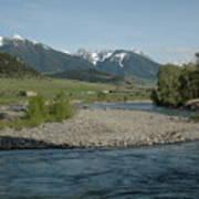 Montana Stream Art Print