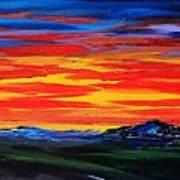 Montana Sunset Colors                     72 Art Print