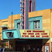 Miles City Montana - Theater Art Print