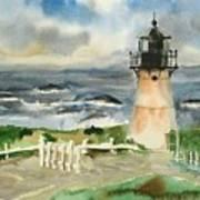 Montara Lighthouse, Plein Air Art Print