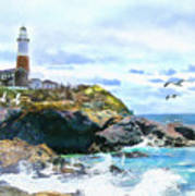 Montauk Point Light Art Print