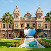 Monte Carlo Casino And Sky Mirror In Monaco Art Print
