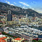 Monte Carlo Harbor View Art Print