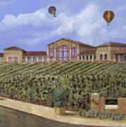 Monte De Oro And The Air Balloons Art Print