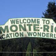 Monte Rio Sign Art Print