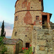 Montefollonico Stone Tower And Fortress Art Print