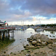 Monterey Harbor - Old Fishermans Wharf - California Print by Brendan Reals
