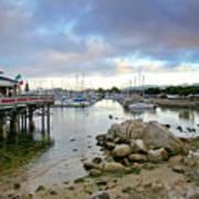 Monterey Harbor - Old Fishermans Wharf - California Art Print by Brendan Reals