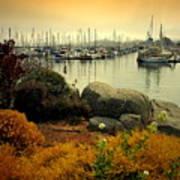 Monterey Marina Vista Art Print