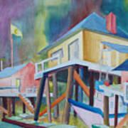 Monterey Wharf Art Print