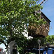 Montmarte Paris Windmill Art Print