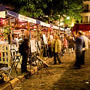 Montmartre Artist Square Paris Art Print