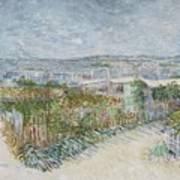 Montmartre  Behind The Moulin De La Galette Paris, July 1887 Vincent Van Gogh 1853  1890 Art Print