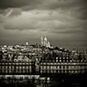 Montmartre Black And White Art Print