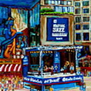 Montreal City Paintings By Streetscene Specialist Carole Spandau  Over 500 Prints Available Art Print