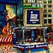 Montreal Jazz Festival Arcade Art Print