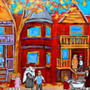 Montreal Memories Of Zaida And The Family Art Print