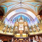 Montreal Notre-dame Basilica Art Print