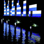 Montreal Port Night Art Print
