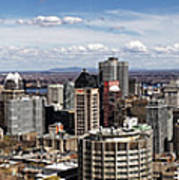 Montreal Seen From Above Art Print