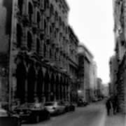 Montreal Street Black And White Art Print