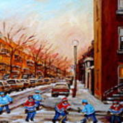 Montreal Street Hockey Game Art Print