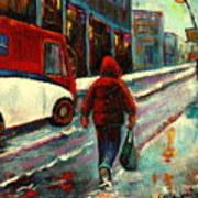 Montreal Streets Winter Morning Art Print