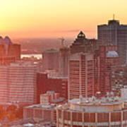 Montreal Sunrise Panorama Art Print