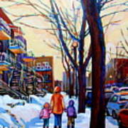 Montreal Winter Art Print