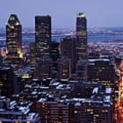 Montreal Winter Cityscape  Art Print