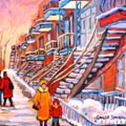 Montreal Winter Walk Art Print