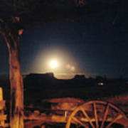 Monument Moonrise Art Print
