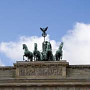 Monument On Brandenburger Tor  Art Print
