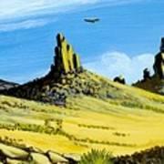 Monument Valley Eagle Rock Art Print