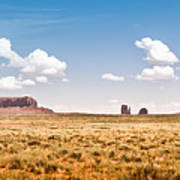 Monument Valley Wide Angle Art Print by Ryan Kelly