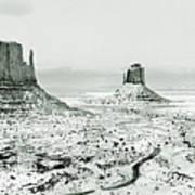 Monument Valley, Winter Art Print