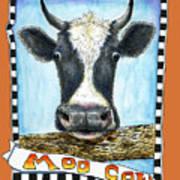 Moo Cow In Orange Art Print