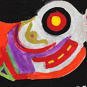 Moody Art Student Art Print