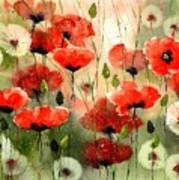Moody Poppies In The Afternoon Art Print