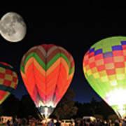 Moon And Balloons Art Print