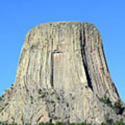 Moon And Devil's Tower National Monument, Wyoming Art Print