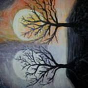 Moon And Sun Art Print