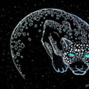 Moon-cat  Art Print