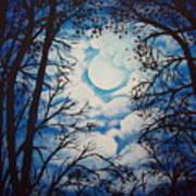 Moon Clouds Art Print
