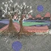 Moon Dusk Art Print
