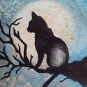 Moon Kitty Art Print