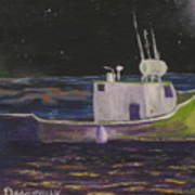 Moon Lit Night Art Print