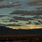 Moon Over Albuquerque Art Print